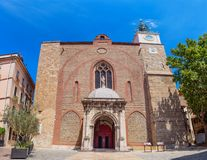 Cathedral of Saint-Jean-Baptiste in Perpignan France. Cathedral of Saint-Jean-Baptiste in Perpignan, France Royalty Free Stock Photos