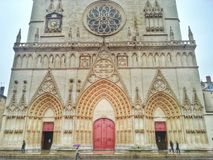 Cathedral Saint Jean de Lyon, Lyon old town, France Stock Photography