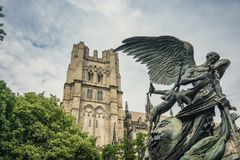 Cathedral of Saint John the Devine. In New York City on a sunny day Royalty Free Stock Photos
