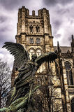 Cathedral of Saint John the Divine. The largest Cathedral of Saint John the Divine and Anglican Church and fourth largest Christian Church in the world with royalty free stock photography