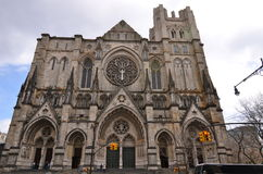 Cathedral of Saint John the Divine in Morningside Heights, NYC stock photos