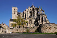 Cathedral of Saint Julien at Le mans in France Stock Image