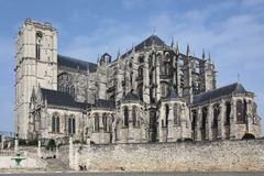 Cathedral Saint Julien in Le Mans Royalty Free Stock Image