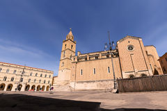 Cathedral of Saint Justin Chieti. Square and Cathedral of Saint Justin Chieti stock photography