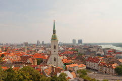 Cathedral of Saint Martin and Bratislava city, Slovakia Stock Photography
