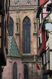 Cathedral of Saint Martin and Half timbered houses, Colmar Royalty Free Stock Photos