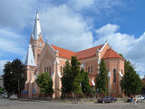 Cathedral of Saint Martin in Mukacheve, Ukraine Stock Photography