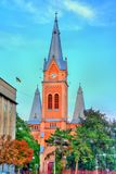 The St. Martin of Tours Cathedral in Mukacheve, Transcarpatia, Ukraine Stock Images