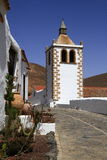 Cathedral of Saint Mary of Betancuria in Fuerteventura Royalty Free Stock Images