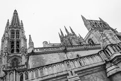 Cathedral of Saint Mary of Burgos Stock Images