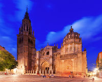 Cathedral of Saint Mary in evening. Toledo Royalty Free Stock Image