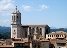 Cathedral of Saint Mary of Girona Stock Photography