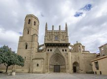 Cathedral of Saint Mary Huesca Stock Images