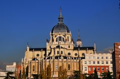 Cathedral of Saint Mary the Royal of La Almudena Stock Photo