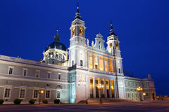 Cathedral of Saint Mary the Royal of La Almudena Stock Images