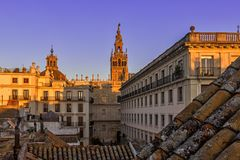 Cathedral of Saint Mary of the See. Seville, Stock Photography