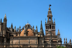 Cathedral of Saint Mary of the See in Seville, Spain. Cathedral of Saint Mary of the See and Giralda in Seville, Spain Stock Photo