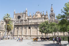 The Cathedral of Saint Mary of the See (Seville Cathedral) in Se Stock Images