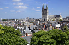 Cathedral Saint Maurice at Angers in France Stock Images