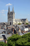 Cathedral Saint Maurice at Angers in France Stock Photography