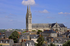 Cathedral Saint Maurice at Angers in France Royalty Free Stock Photography