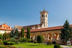 Cathedral of Saint Michael at Alba Iulia. Roman Catholic Cathedral of Saint Michael at Alba Iulia. Alba County, Romania Stock Photo