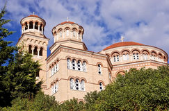 Cathedral Saint Nectarios of Aegina. Royalty Free Stock Photography