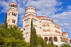 Cathedral Saint Nectarios of Aegina. Stock Image