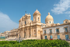 Cathedral of Saint Nicholas of Myra in Noto, Southern Sicily, Italy Royalty Free Stock Photo