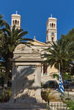 Cathedral of Saint Nicholas, town of Ermopoli, Syros, Greece Royalty Free Stock Image
