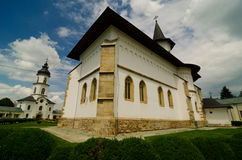The cathedral of Saint Paraskeva in the town of Roman. The Metropolitan bishops cathedral of Saint Paraskeva in the town of Roman, Romania stock image
