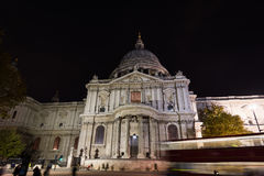 Cathedral Saint Paul London at night Stock Photography