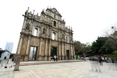 Cathedral of Saint Paul in Macau Royalty Free Stock Photography