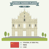Cathedral of Saint Paul, Macau Royalty Free Stock Photos