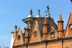 The Cathedral of Saint Peter the Apostle (Duomo di Mantova) in M. Detail of the Cathedral of Saint Peter the Apostle or Duomo di Mantova in Mantua, Lombardy royalty free stock photos
