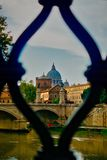 Cathedral Saint Peter Rome Framed railing. Cathedral Saint Peter in Rome Framed railing royalty free stock image