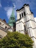 Cathedral Saint Pierre in Geneve, Switzerland stock photo