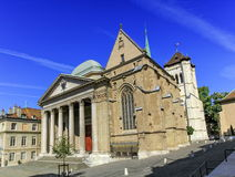Cathedral Saint-Pierre in the old city, Geneva, Switzerland Royalty Free Stock Photo