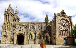 Cathedral in Saint-Pol-de-Leon. France Royalty Free Stock Photography