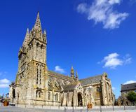 Cathedral in Saint-Pol-de-Leon. France Stock Image