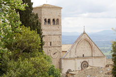 The Cathedral of Saint Rufino, Assisi, italy Stock Photography