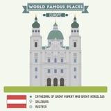 Cathedral of Saint Rupert and Saint Vergilius. Salzburg Royalty Free Stock Photo