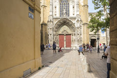 Cathedral Saint-Sauveur d`Aix-en-Provence Royalty Free Stock Photos