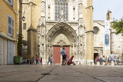 Cathedral Saint-Sauveur d`Aix-en-Provence Stock Photography