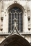 Cathedral Saint-Sauveur facade ornaments Royalty Free Stock Photo