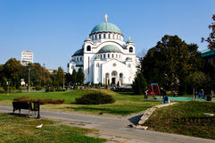Cathedral of the Saint Sava Stock Photo