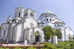 Cathedral of Saint Sava. The largest Orthodox church, Serbia Stock Photography
