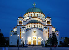 Cathedral of Saint Sava in Belgrade Stock Photos