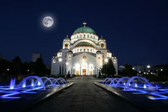 Cathedral of Saint Sava in Belgrade, Serbia. Cathedral of Saint Sava at evening, Belgrade, Serbia Royalty Free Stock Image