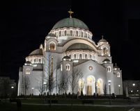 Cathedral of Saint Sava in Belgrade, Serbia Stock Image